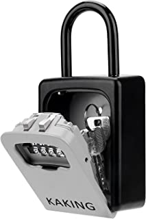 Key Lock Box with 4-Digit Combination for Realtor Construction Seniors Family and Friends