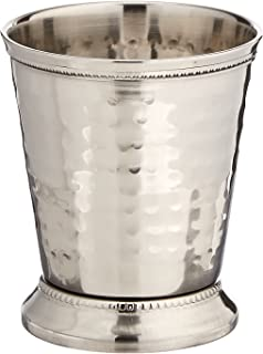 Elegance 10 oz Hammered Mint Julep Cup, Medium, Silver by Elegance