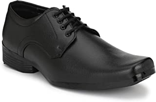 HEEDERIN Men's Black Synthetic Lace up Officewear Formal Shoes