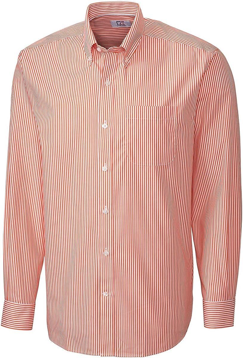 Cutter & Buck Men's Big & Tall Stripe Button Shirt