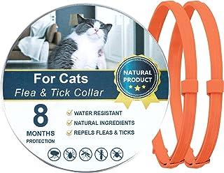 Dwcom Cat Flea Collars with 8 Months, Waterproof Protection & Adjustable Flea Collar for Cats, Cat Flea and Tick Collars O...