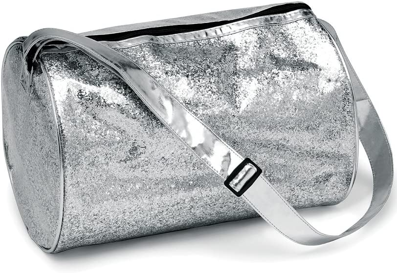 Glitter Duffle Duffel Bag Travel Luggage Womens Girls Dance Team Cheer Weekender