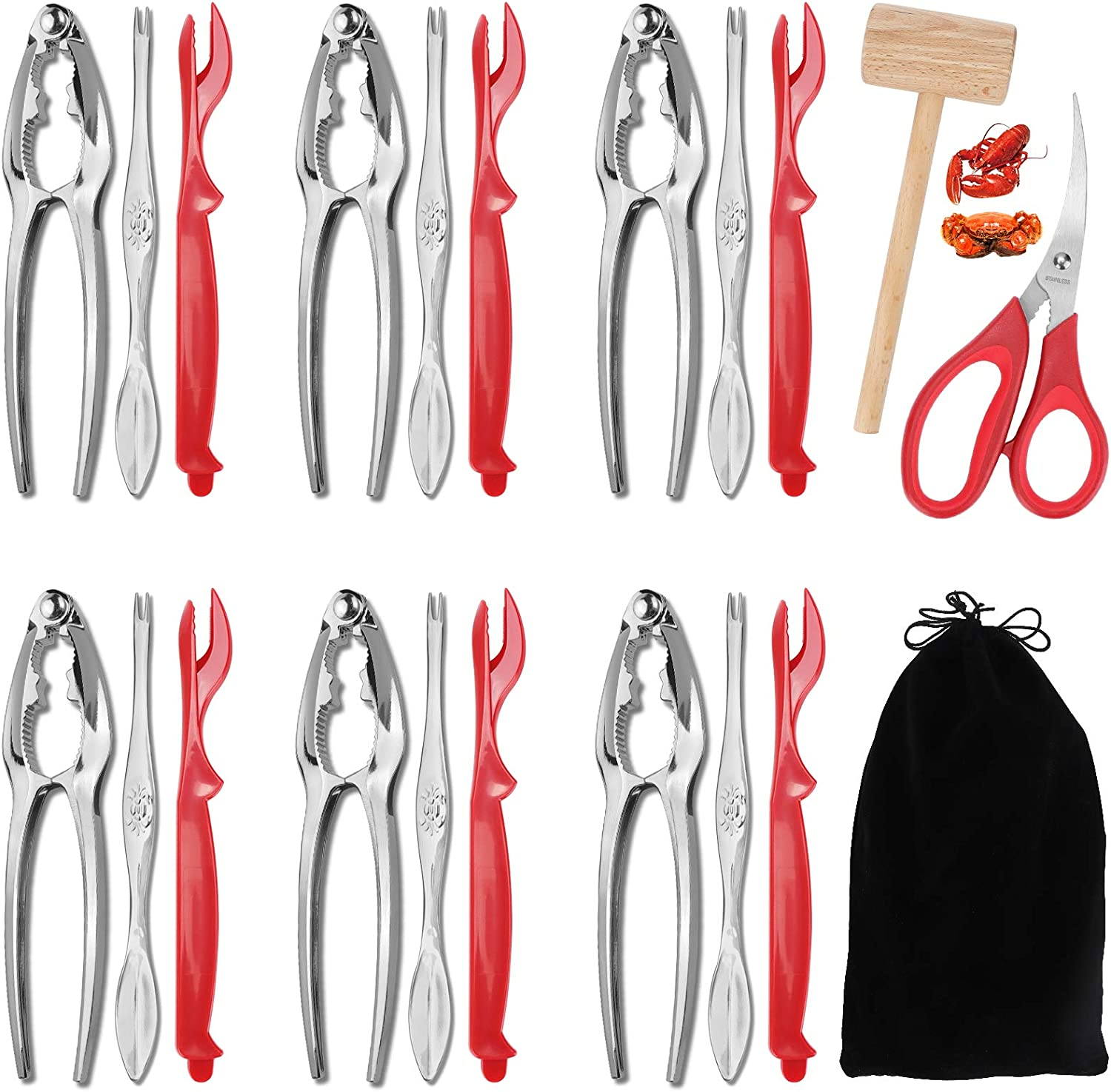 quality assurance 21 Pcs specialty shop Crab Crackers and Cracke Tools Sets-6 Seafood