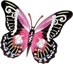 2er Set Wanddeko Schmetterlinge B lila aus Metall Formano Garten F20 40cm rot