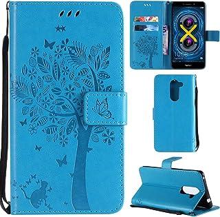 TOBFE50585 Bleu Marine Tosim Coque Huawei Honor 6X Cuir PU Etui Flip Case Housse Portefeuille avec Porte Carte Support et Fermeture Magn/étique pour Huawei Honor6X