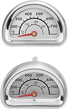 Uniflasy Stainless Steel Repair Replacement Part Temperature Gauge Heat Indicator for Select Charbroil and Kenmore Gas Grill Models, 2 Pack