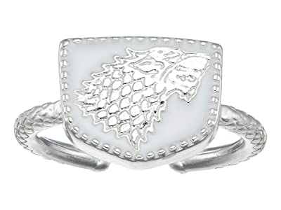 Alex and Ani Game of Thrones, Stark Signet Adjustable Ring (Sterling Silver) Ring