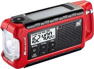 Radio de Emergência Compacto Midland - ER210 AM/FM com lanterna, carregador solar e dínamo