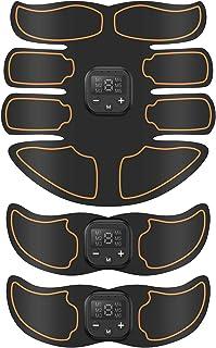 Bicidi 【2020モデル】腹筋ベルト EMS USB充電式 腹筋トレーニング 腹筋マシーン 筋トレ器具 ダイエット器具 液晶表示 6種類モード 10段階強度 男女兼用 日本語説明書