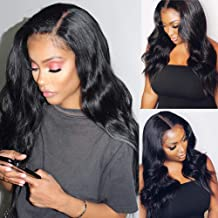Miss Flower Lace Front Human Hair Wigs for Black Women 13x6 9A Body Wave Lace Front Wigs Human Hair Pre Plucked With Baby Hair 14inch