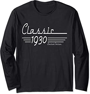 Classic 1930 Limited Edition 90th Birthday Gift Long Sleeve T-Shirt