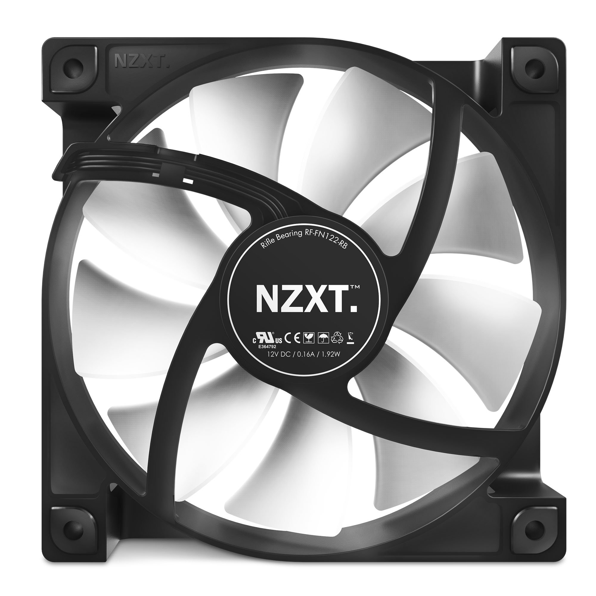 Nzxt Fn V2 120mm Performance Case Fan Cooling Rf Fn122 Rb Amazon Sg Electronics