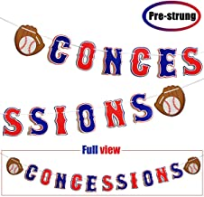 Concessions & Baseball Glove Sign Banner Baseball Themed Birthday Party Sports Theme Party Decorations, Baby Shower Gender Reveal Party Supplies, Cute Photo Props