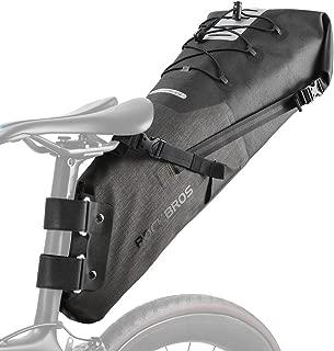 ROCK BROS Bikepacking Bag Waterproof Bike Saddle Bag Large Capacity Cycling Rear Seat Pack Black