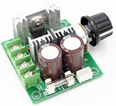 RioRand 12V-40V 10A PWM DC Motor Speed Controller with Knob-High Efficiency, High Torque, Low Heat Generating with Reverse Polarity Protection, High Current Protection