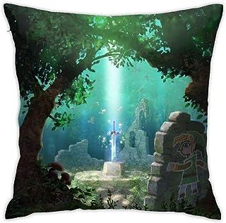 KINGAM The Legend Of Zelda - Fundas de almohada de 45,7 x 45,7 cm, funda de almohada moderna, funda de cojín cuadrada, decoración