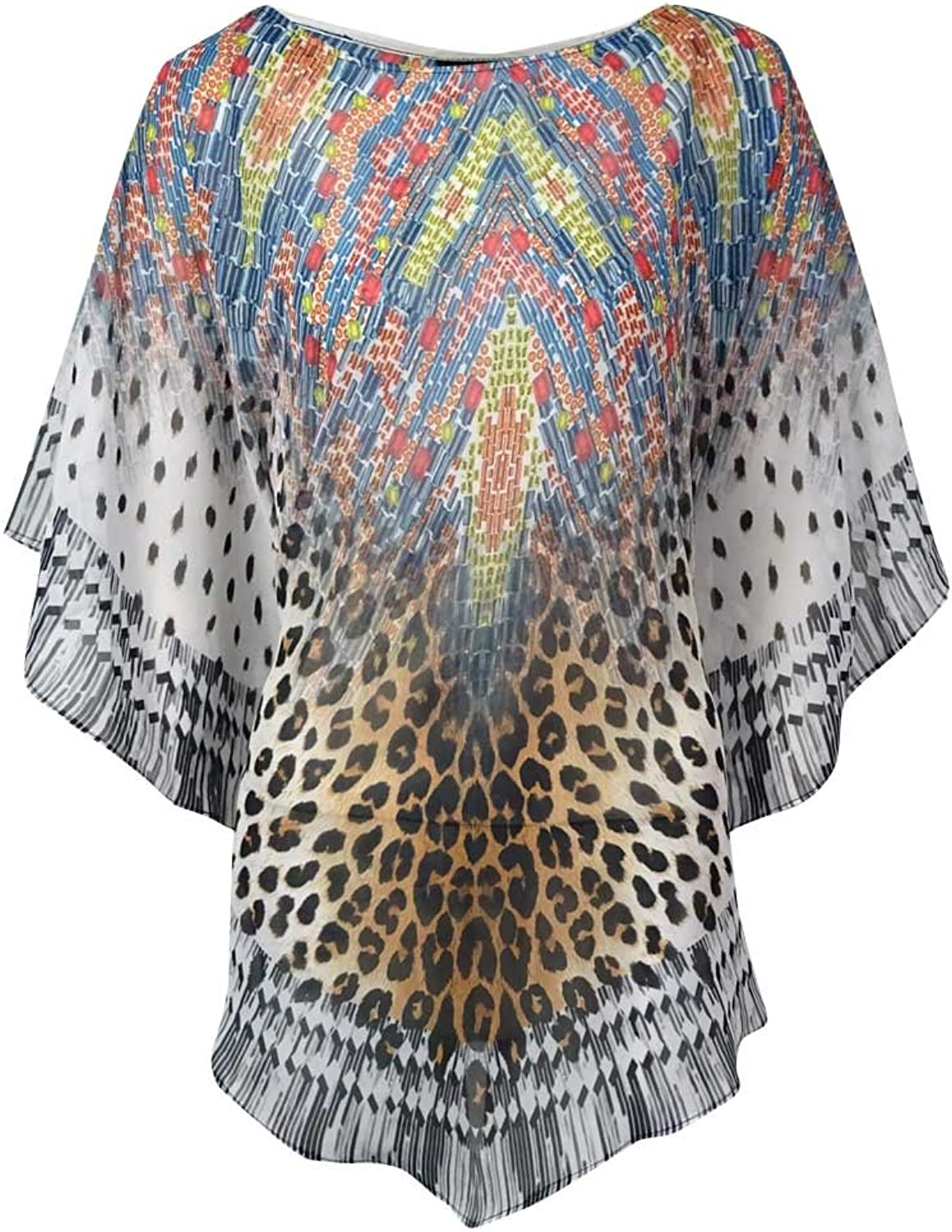 Coco Reef Leopard Print Accented Bathing Suit Cover Up