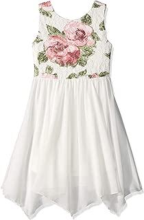 Amy Byer Girls' Big Hanky Hem Dress