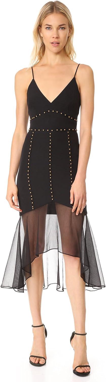 La Maison Talulah Womens Sorbonne Studded Midi Clubwear Dress