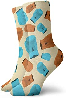 Vintage Boxing Gloves Pattern Socks Colorful Fun Sport Running Calcetines For Men & Women