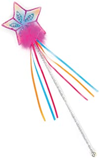 Creative Education Girls Glitter Rainbow Fairy Wand Magic Costume Prop, Pink