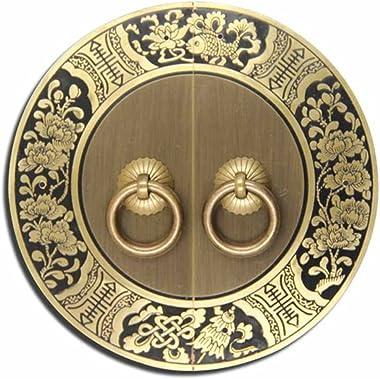 Handle,Chinese l Handle Antique Cabinet Door Copper Handle Round Handle Copper Handle Classical Knocker Door Handle Furniture