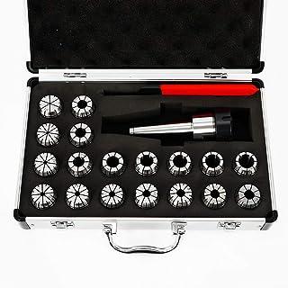 Kaibrite 3-20 mm MT3 Tige ER32 Jeu de pinces de serrage avec mandrin de serrage et clé pour machine de fraisage