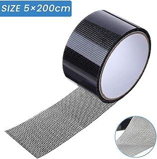 Cinta para reparar mosquiteras, cinta adhesiva de fibra de vidrio para ventanas de insectos, 5 cm x 200 cm (gris)