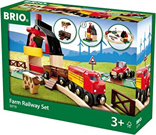 Brio 33719 Farm Railway Set | Toy Train Set for Kids Age 3 and Up