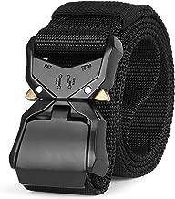 Mens Tactical Belt SANSTHS Heavy Duty Nylon Belt 1.5in Riggers Belt Military ...