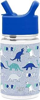 Simple Modern 12oz Summit Kids Tritan Water Bottle with Straw Lid Sippy Cup for Toddler - Dishwasher Safe Travel Tumbler - Dinosaur Roar