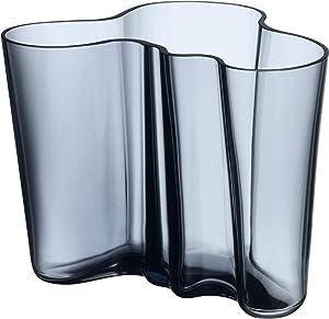 Alvar aalto Vase 160 mm, Verre, Bleu, L 19cm, B 20cm, H 16cm