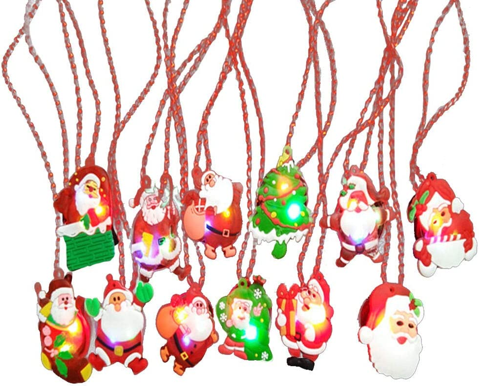 The Electric Mammoth Set of 12 Light Up LED Christmas Necklaces