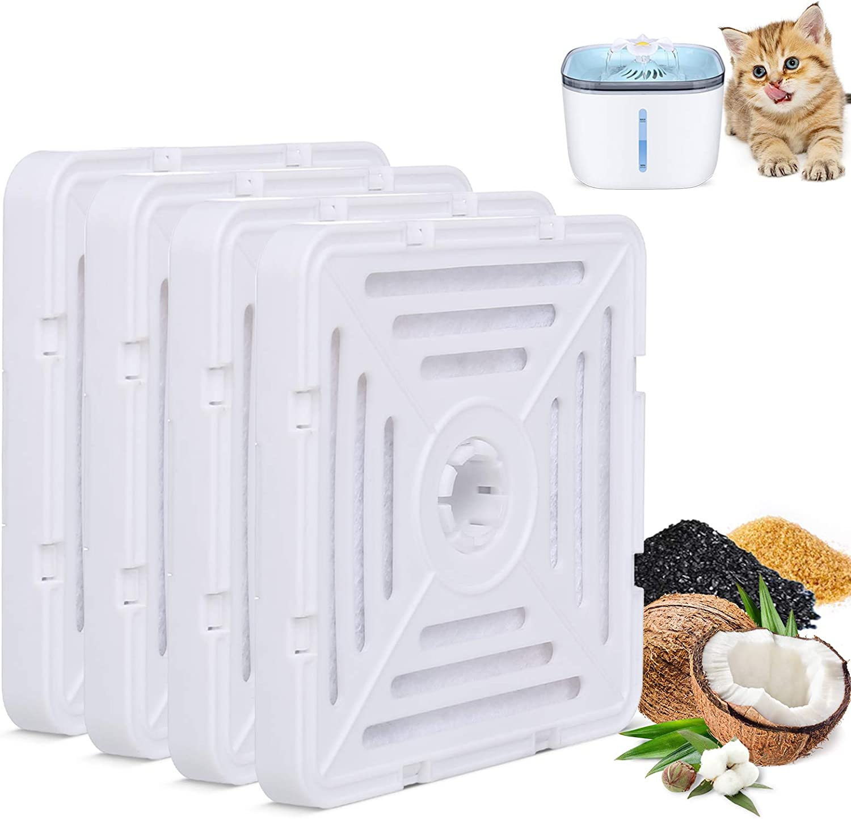 [Alternative dealer] Cat Water Fountain Filters Replacement 4 Pack Finally resale start