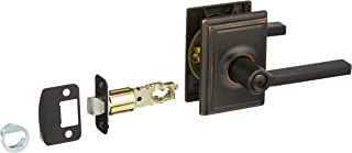 Schlage F40-LAT-ADD Latitude Reversible Privacy Door Leverset with The Addison R, Aged Bronze