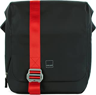 Acme Made North Point Messenge - Bolsa de Moda, Color Negro Mate y Mandarina