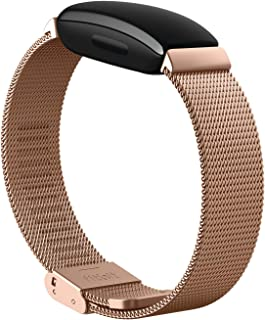 Fitbit Inspire 2,stainless Steel Mesh,rose Gold Stainless Steel,one Size