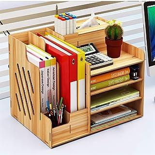 Office Desk Organizer Accessory Station Desktop Stationary Station Paper Filer Tray Organization Office Desk File Rack Hom...
