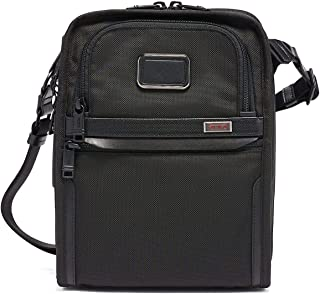 Alpha 3 Organizer Travel Tote - Satchel Crossbody Bag for Men and Women - Black