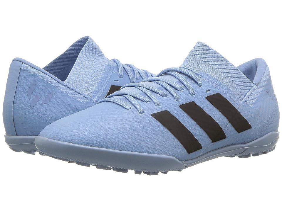 adidas Kids Nemeziz Messi Tango 18.3 TF Soccer (Little Kid/Big Kid) (Ash Blue/Black/Raw Grey) Kids Shoes