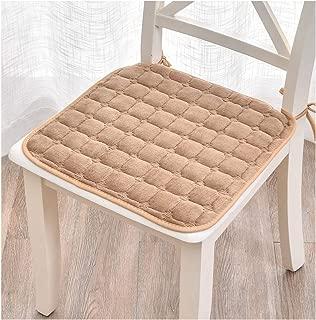 plummei 6 Colors Winter Chair Cushions Non Slip Seat Pad Age Office Chair Cushion Throw Pillow Home Decoration,Camel,45X45Cm