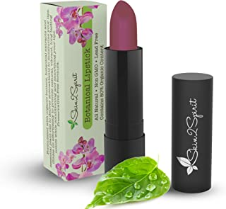 Botanical Lipstick (RHUBARB) - Natural, Organic, Moisturizing, Non toxic, Long lasting - Vibrant Color that's Good for your Lips!