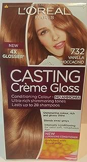 L'Oreal Paris Casting Creme Gloss Conditioning Colour, No Ammonia, 732 Vanilla Moccacino