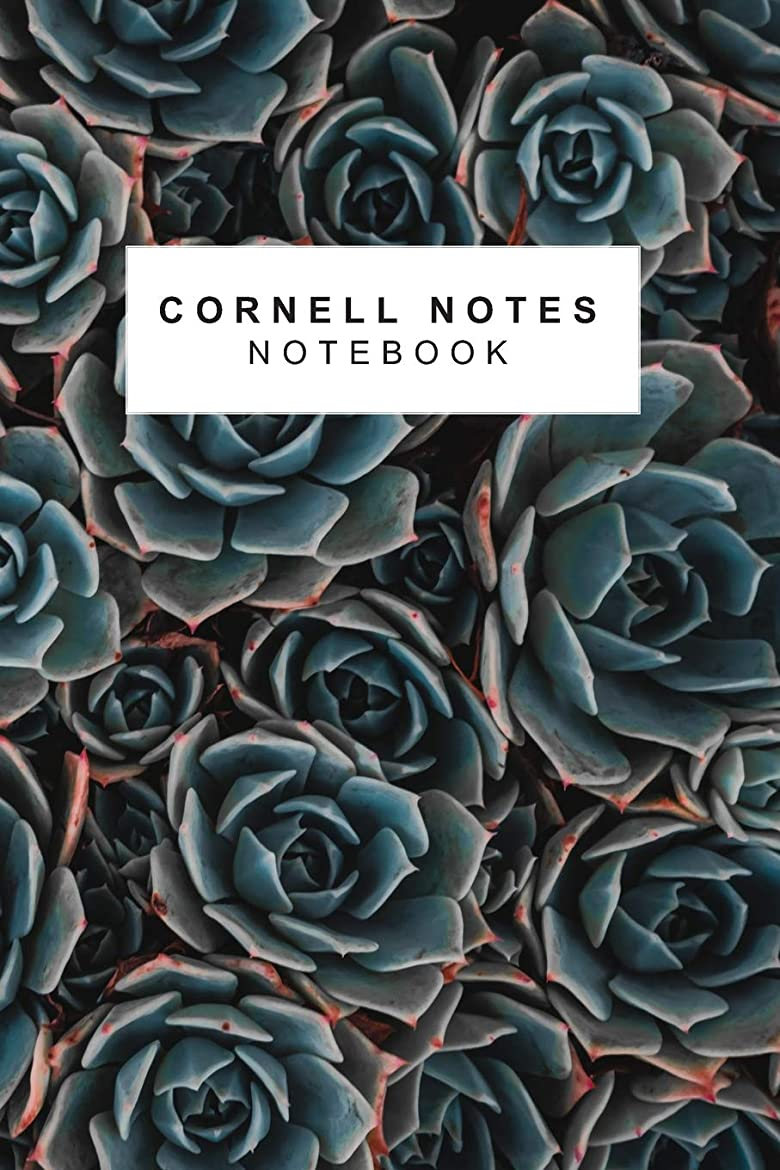 ブラウスガウン南極Cornell Notes Notebook: Succulents 150 Page Cornell Notes Style Composition Journal