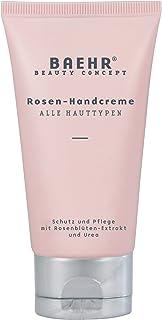 Baehr Rosen Handcreme mit Rosenblütenextrakt und Urea, Schutz, und Pflege, 75 ml