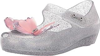 mini melissa Girl's Ultragirl Fly III BB (Toddler/Little Kid) Silver Glitter 10 Toddler M