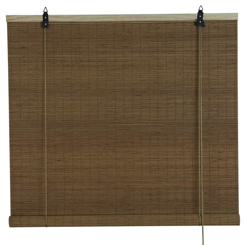 昼間に台風竹すだれ バンブーカーテン、竹製ブラインド-天然日焼け止め、装飾的な竹のカーテン、屋内に適した、2色、サイズはカスタマイズ可能