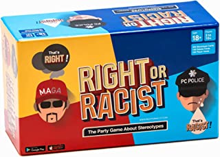 Right Or Racist - Funny Secret Santa Gifts Adult Party Game Hilarious Drinking NSFW Game - Cards About Humanity - Birthday Gift Idea