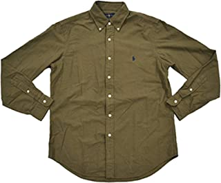 Ralph Lauren Polo Mens Solid Oxford Pony Shirt Button-Down