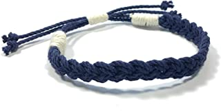 Adjustable Woven Sailor Knot Bracelet - Navy Blue